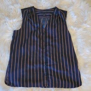 Tommy Hilfiger XL Striped Sleeveless Blouse